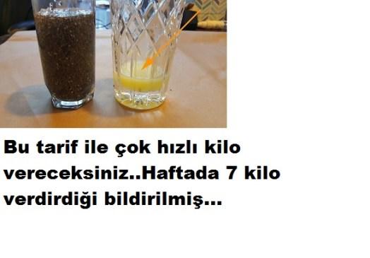 HAFTADA 7 KİLO VERDİREN TARİF