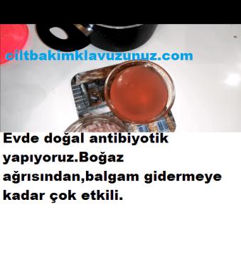 Evde Doğal Antibiyotik Yapılışı
