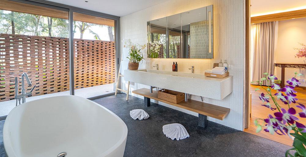 The Pines Master Bedroom Ensuite Bathroom Design Natai Beach Villa Images Elite Havens