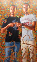 "Kehinde Wiley, ""Portrait of a couple 1912-1956"" (détail), 244 x 183 cm, galerie Templon"