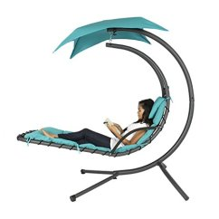 Hammock Chair Stand Adjustable High Back Beach Naturefun With Arc Canopy Beige Best Choice Products Hanging Chaise Lounger Air Porch Swing Teal