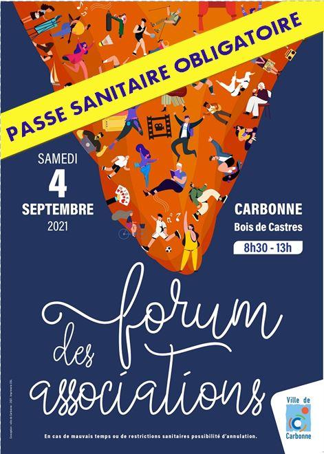 Affiche forum des associations Carbonne 2021