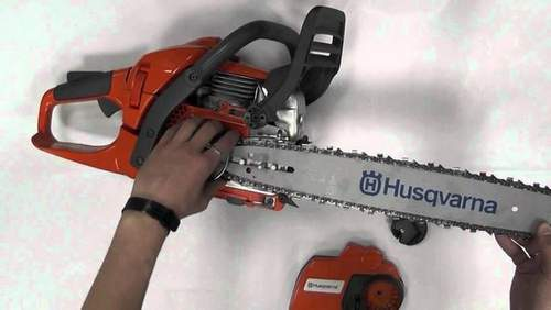 how to put the chain on a chainsaw