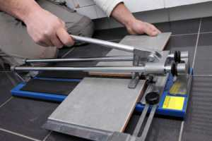 How To Cut A Tile With A Tile Cutter