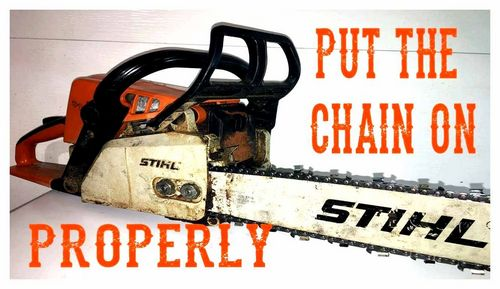 How To Attach The Chain To The Saw