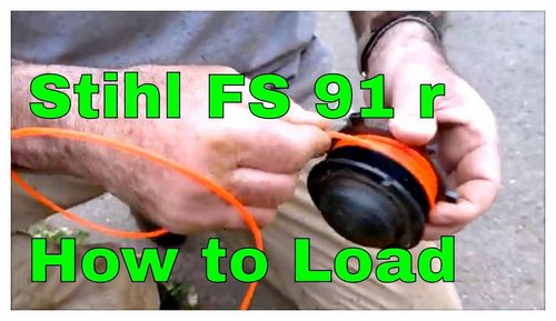 How To Load The Line In The Stihl Trimmer
