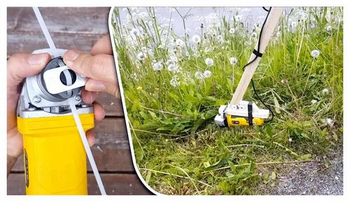How To Make A Grass Trimmer From An Angle Grinder