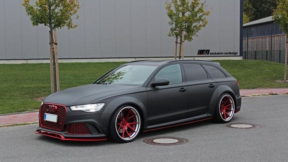 medium resolution of a6 avant gets bodykit and wheels from m d exclusive cardesign