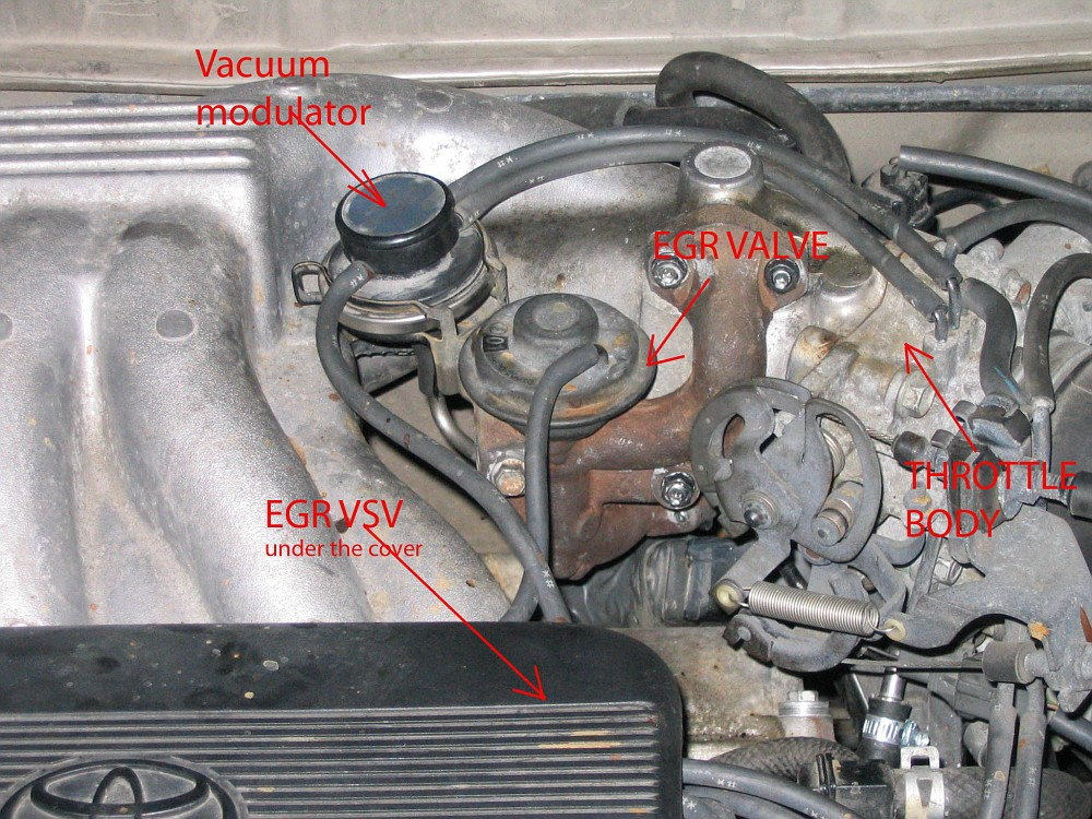 2004 toyota camry exhaust system diagram 2001 celica radio wiring 1997 to how clean or replace egr valve - camryforums