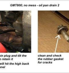 gmt800 no mess oil pan drain  [ 1601 x 901 Pixel ]