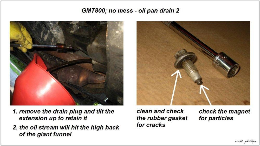 medium resolution of gmt800 no mess oil pan drain