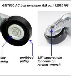 gmt800 a c belt tensioner  [ 1601 x 901 Pixel ]