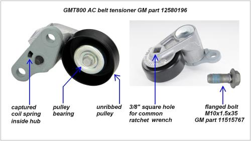 small resolution of gmt800 a c belt tensioner