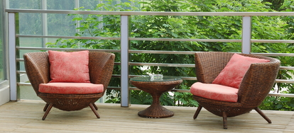 woven outdoor chair rooms to go swivel how repair your resin wicker furniture doityourself com