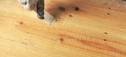 Wet Sanding Wood Filler