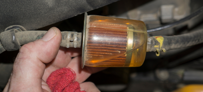 dirty fuel filter on truck