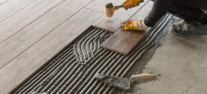 installing slate tile over a concrete