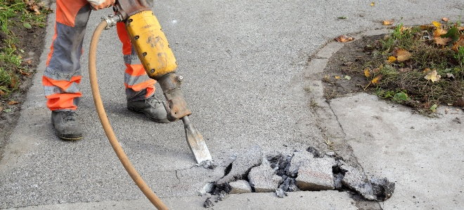 how to remove a concrete walkway