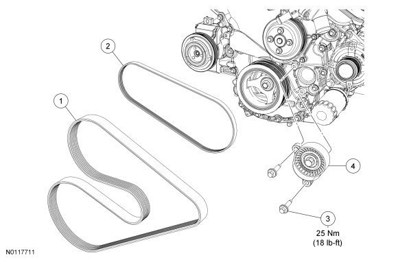 Wiring Diagram Database: 2007 Ford Edge Serpentine Belt