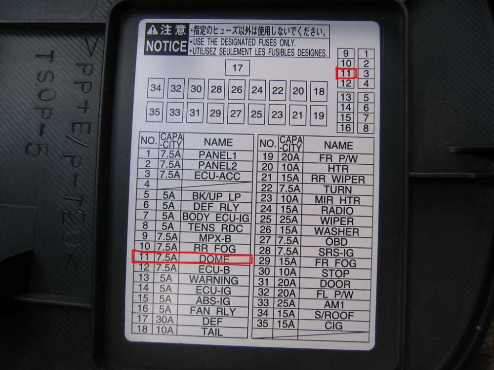 medium resolution of toyota tacoma fuse box general wiring diagram data 2005 toyota sienna fuse box toyota tacoma 1996