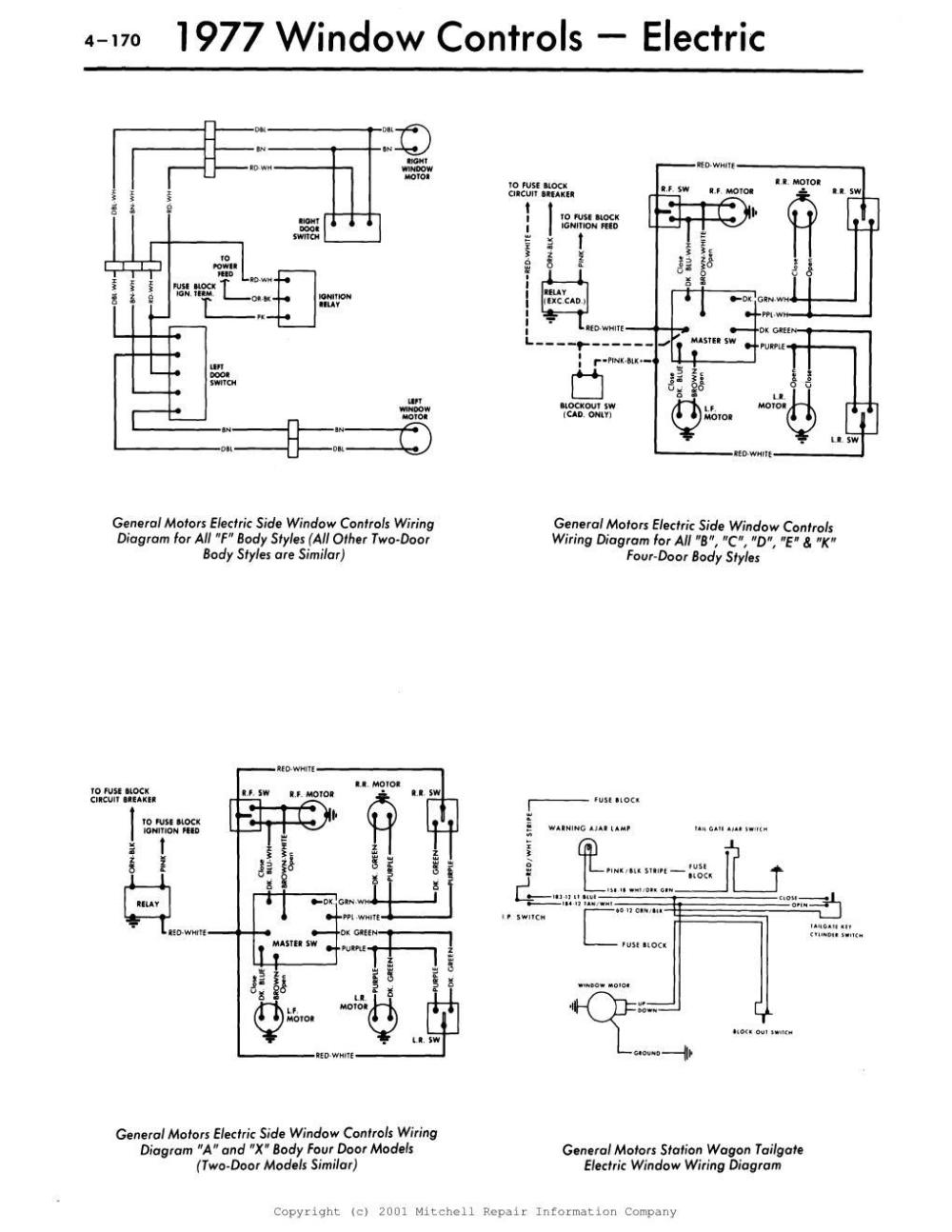 medium resolution of here are some wiring diagrams for you hopefully these help 1977 gm window controls