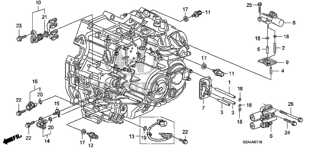 2011 Honda Pilot Engine Diagram