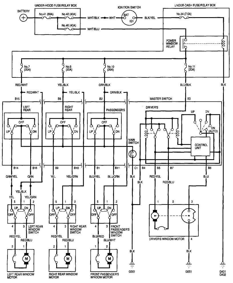 medium resolution of 2001 honda civic power window wiring diagram