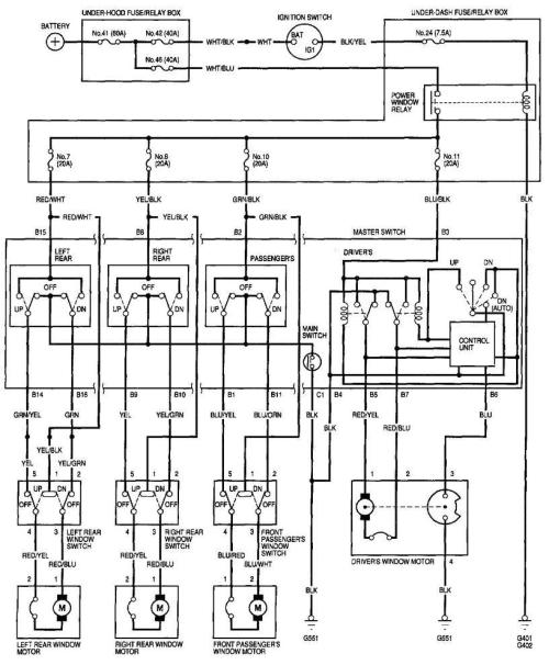 small resolution of 2001 honda civic power window wiring diagram