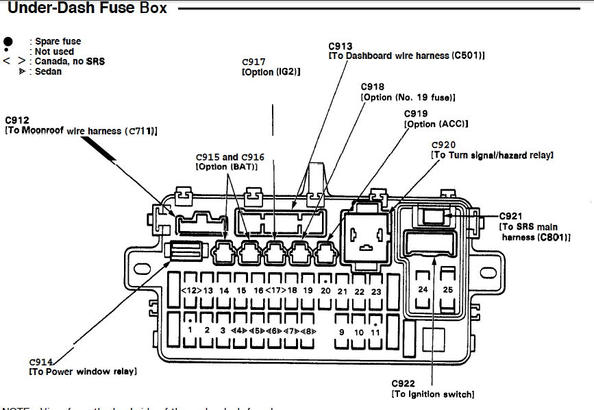 1992 Dodge Dakota Fuse Box Location 1992 Acura Integra