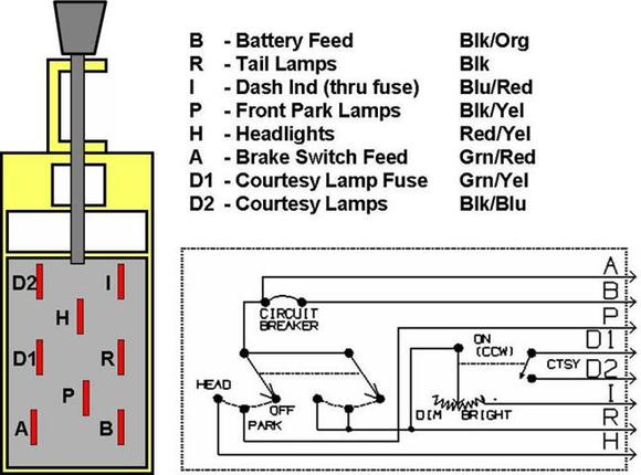1966 ford mustang headlight switch wiring