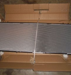 i am trying to use the jeep xj postal carrier radiator the only difference is this radiator is a 2 row and it has a core height in 11 1 8 inch as  [ 2000 x 1500 Pixel ]