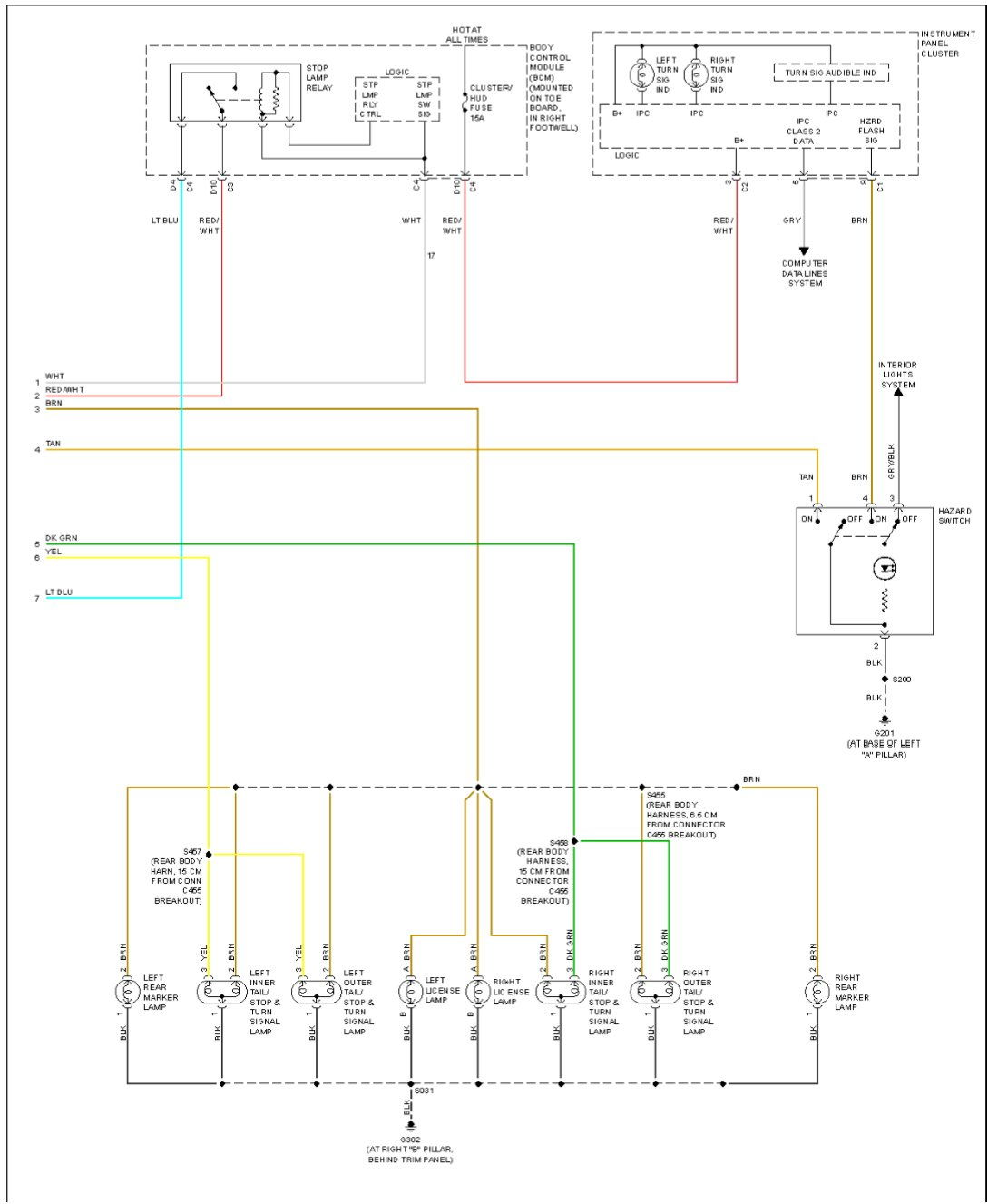 tail light wiring diagram chevy 1979 pontiac firebird trans am 2006 needed corvetteforum