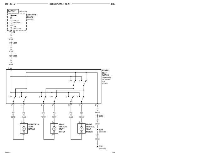 1998 power seat diagram  dodge diesel  diesel truck