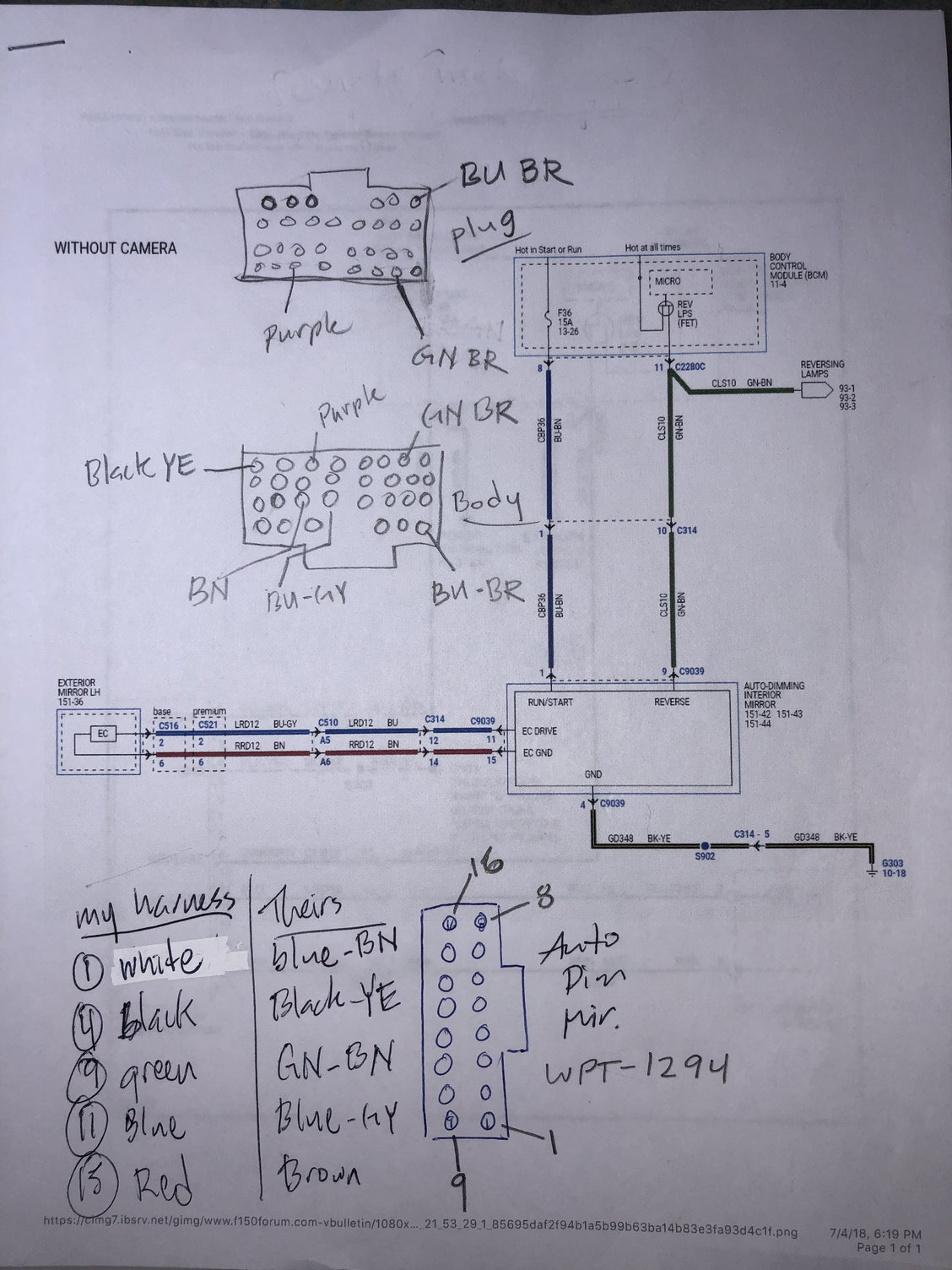 hight resolution of my notes not clean but has all the info for my truck 2018 xl the wiring diagrams are for a 2017 since they haven t released to new drawings yet