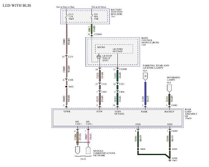 led tailgate strip wiring diagram
