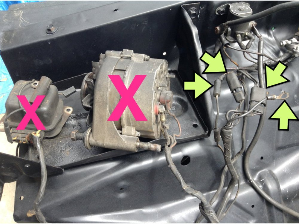 medium resolution of so in preparing the engine bay i began to wonder what i should do with those parts of the wiring harness that will no longer have a function in life