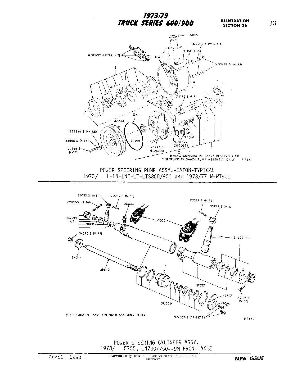 Ford F700 Dump Truck Part Id Request