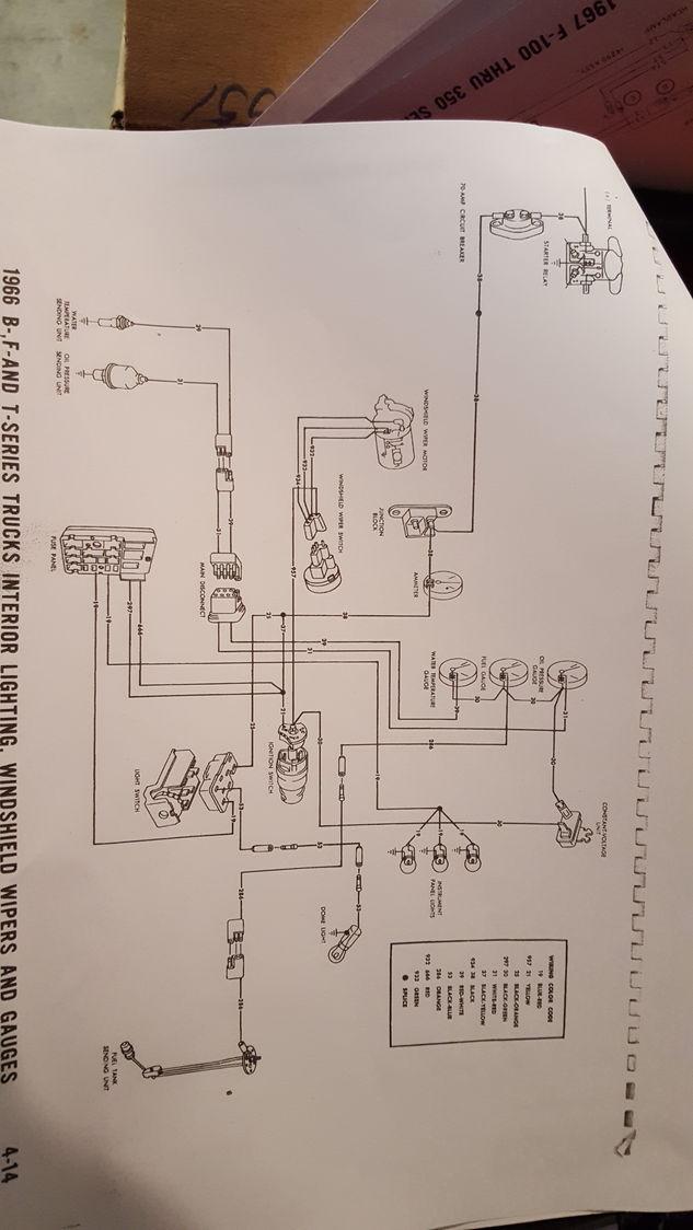 1966 Ford Thunderbird Wiring Diagram 6 1966 Ford F100 Wiring Diagram