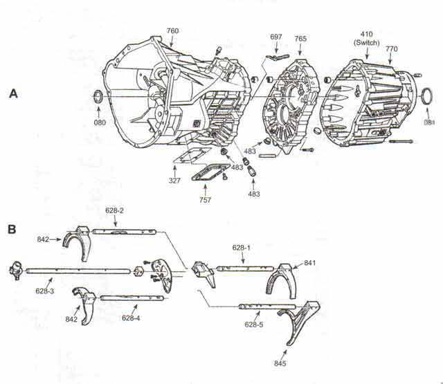 ZF6 transmission 2wd to 4wd conversion (splitting the case