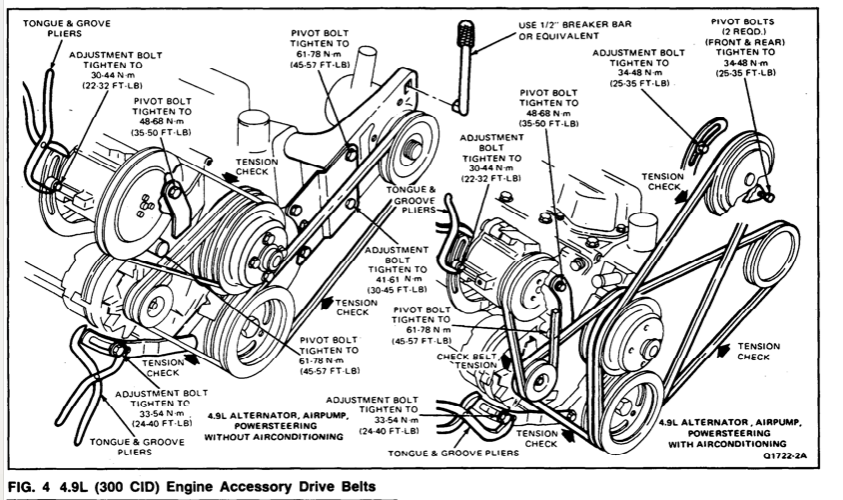 ford 4 9 inline 6 engine diagram