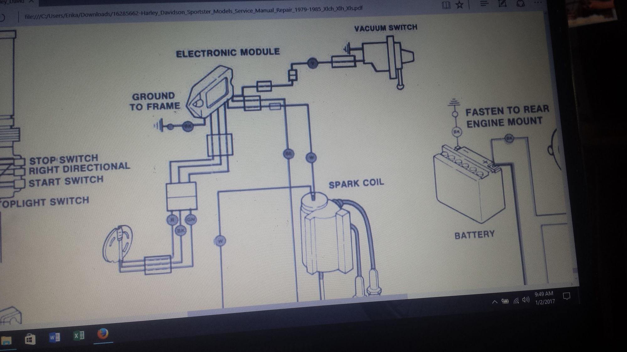 harley tach wiring diagram kohler shower valve parts 05 sportster tachometer repair