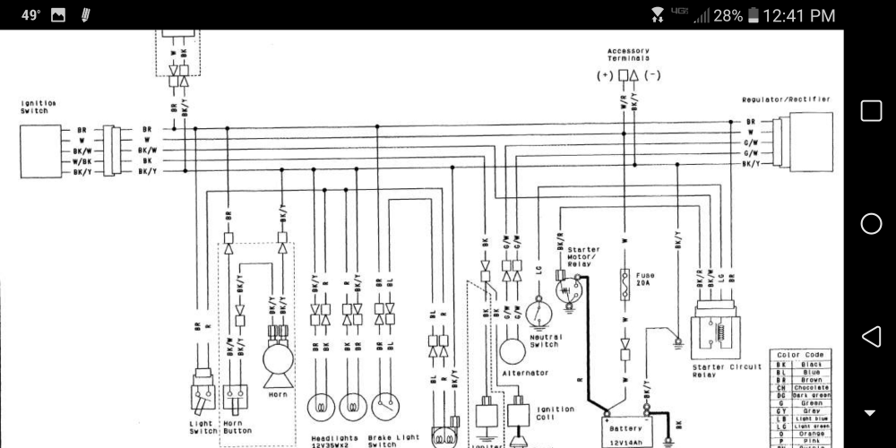 medium resolution of ignition switch wiring kawasaki forums rh kawasakiforums com kawasaki mule 610 ignition switch wiring diagram