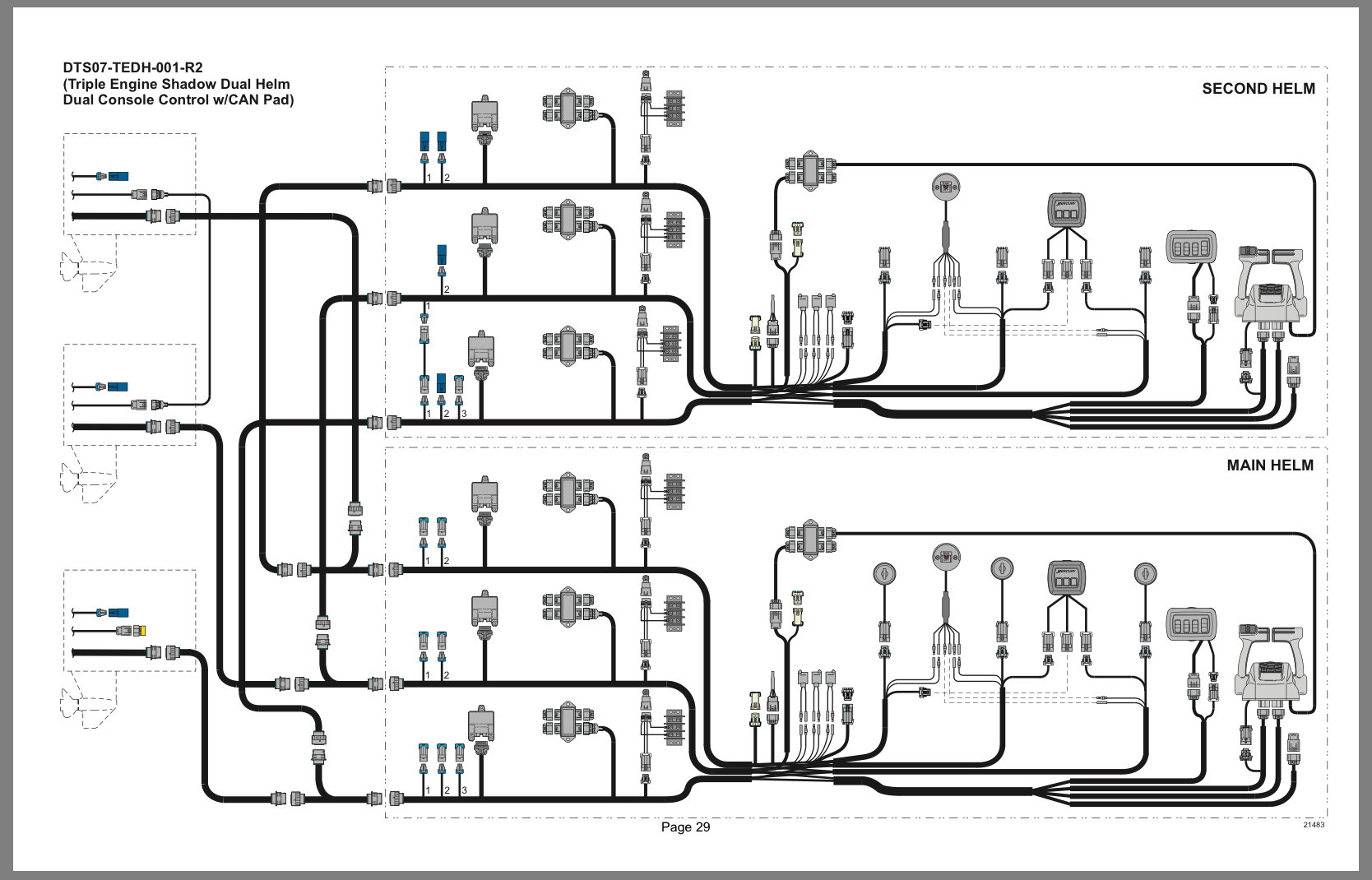 hight resolution of here is a diagram of your dts rigging triple engine dual station i don t have any access to the colored wiring harness diagrams online