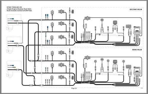 small resolution of here is a diagram of your dts rigging triple engine dual station i don t have any access to the colored wiring harness diagrams online