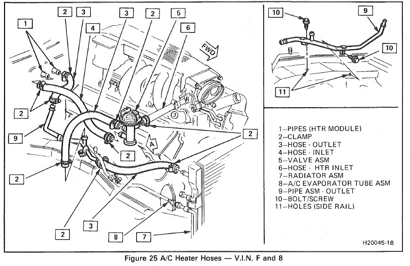 What is the tubing layout for stock 1987 Trans am 5.0