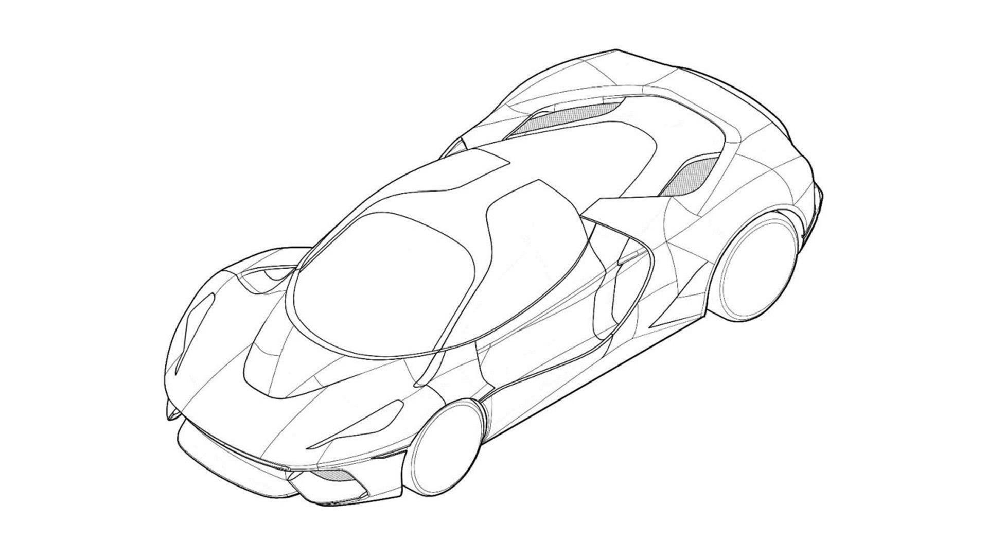 Ferrari files patent drawings for LaFerrari-like hypercar