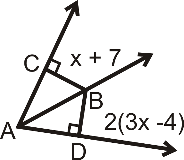 by the Angle Bisector Theorem, so we can set up and solve