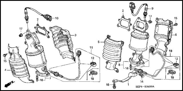 05 honda oxygen sensor wiring