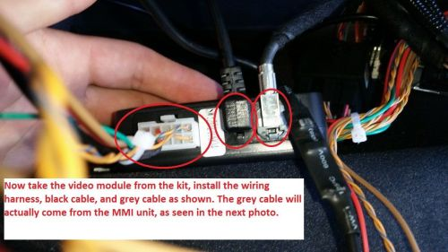 small resolution of install the wiring for the video module