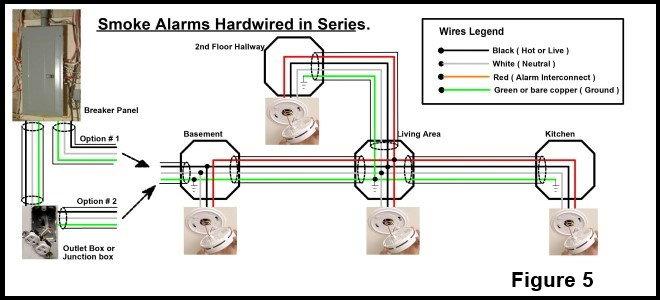 hard wired smoke detectors diagram  schematic wiring